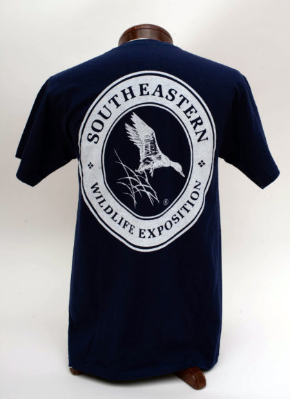 Navy Shirt, Short Sleeve- BACK