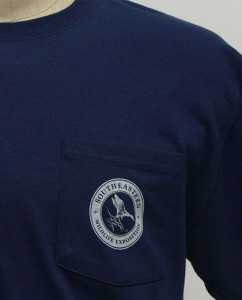 SEWE Logo T-Shirt Navy Front Pocket