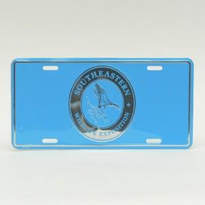 Light Blue License Plate