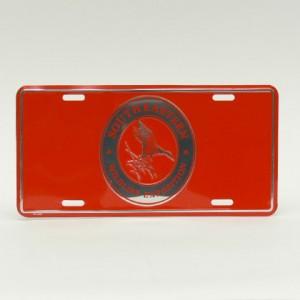 Orange License Plate