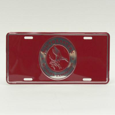 Maroon License Plate