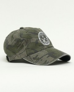 Simms Hat in Riffle Camo Side View