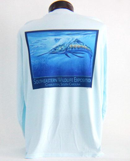 Performance Solar Shirt Arctic Blue Men's Back