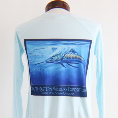 Performance Solar Shirt Arctic Blue Women's Back
