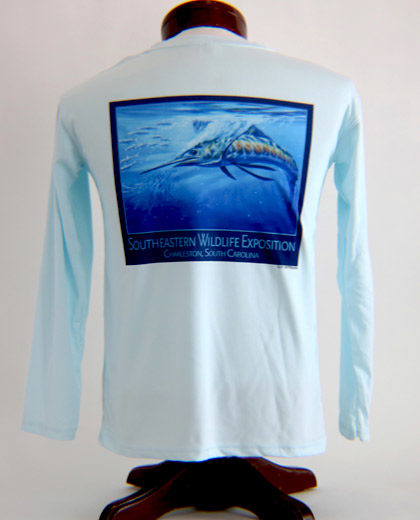 Performance Solar Shirt Arctic Blue Youth Back