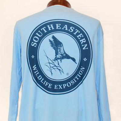 Columbia Blue PUREtech performance shirt (back)